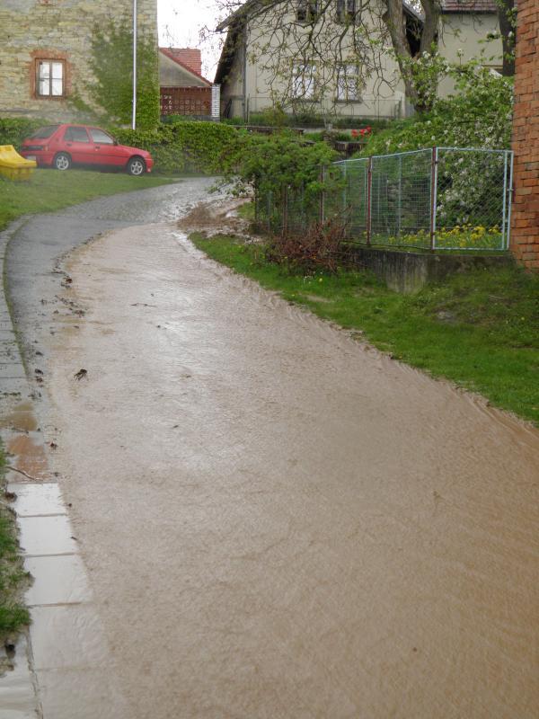 Záplava 23.4.2014 Mravín