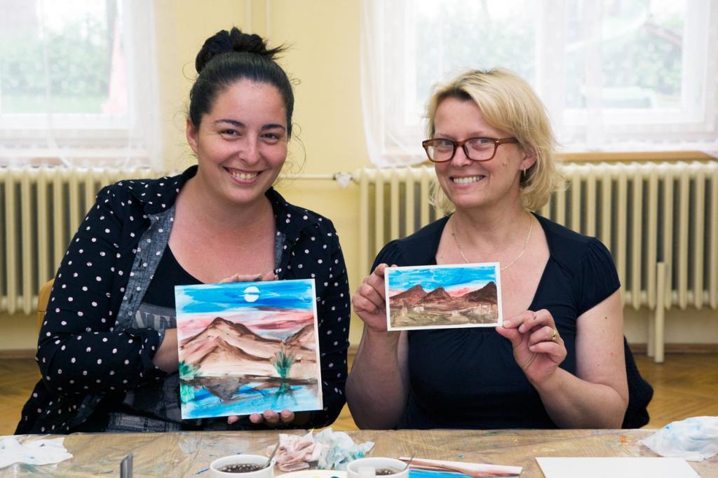 Malování s Naďou Cermanovou