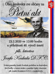 Pietní akt u příležitosti 40. výročí úmrtí plk. Josefa Koukala